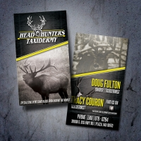 Head Hunters Taxidermy Outdoor Business Card Design