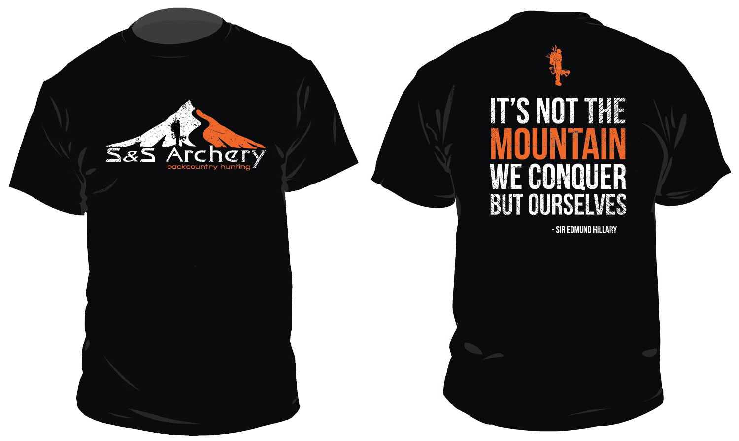 Design t shirts graphic - S And S Archery Mountain Bowhunter Hunting T