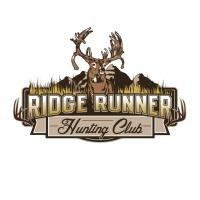 Ridge Runner Hunting Deer Mountain Logo Design
