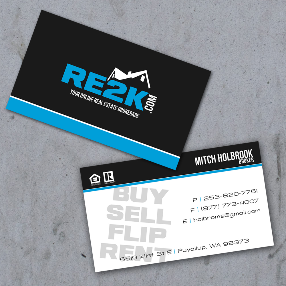 Real Estate Business Cards Mitch Holbrook RE2K