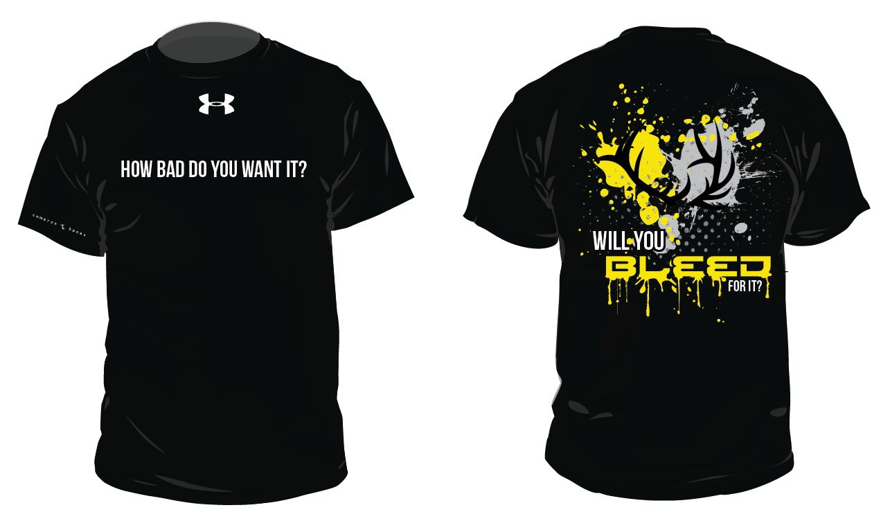 Design t shirt graphics online - Cameron Hanes Under Armour Bleed T Shirt Design