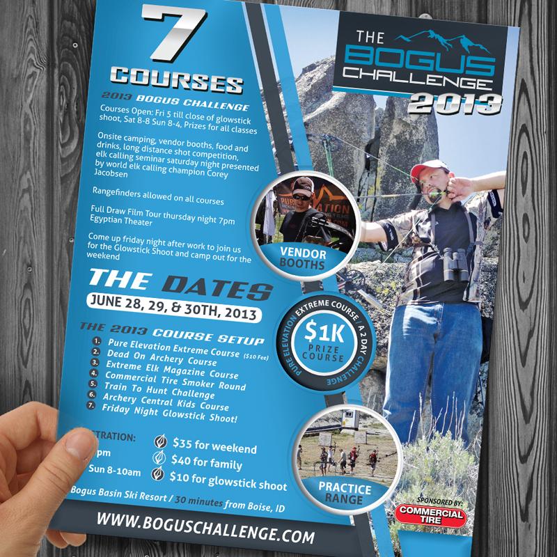 Bogus Basin 3D Shoot Archery Flyer Design | Outdoor Advertising ...