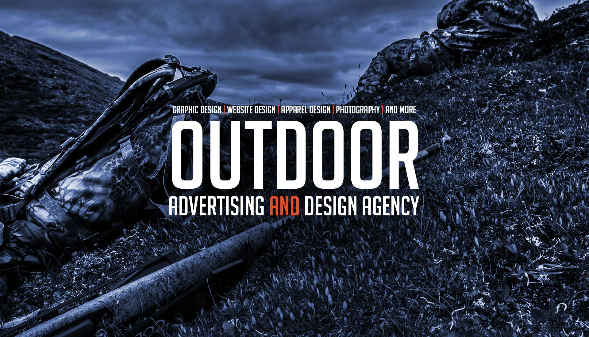 Outdoor advertising and design agency custom hunting for Graphic design agency