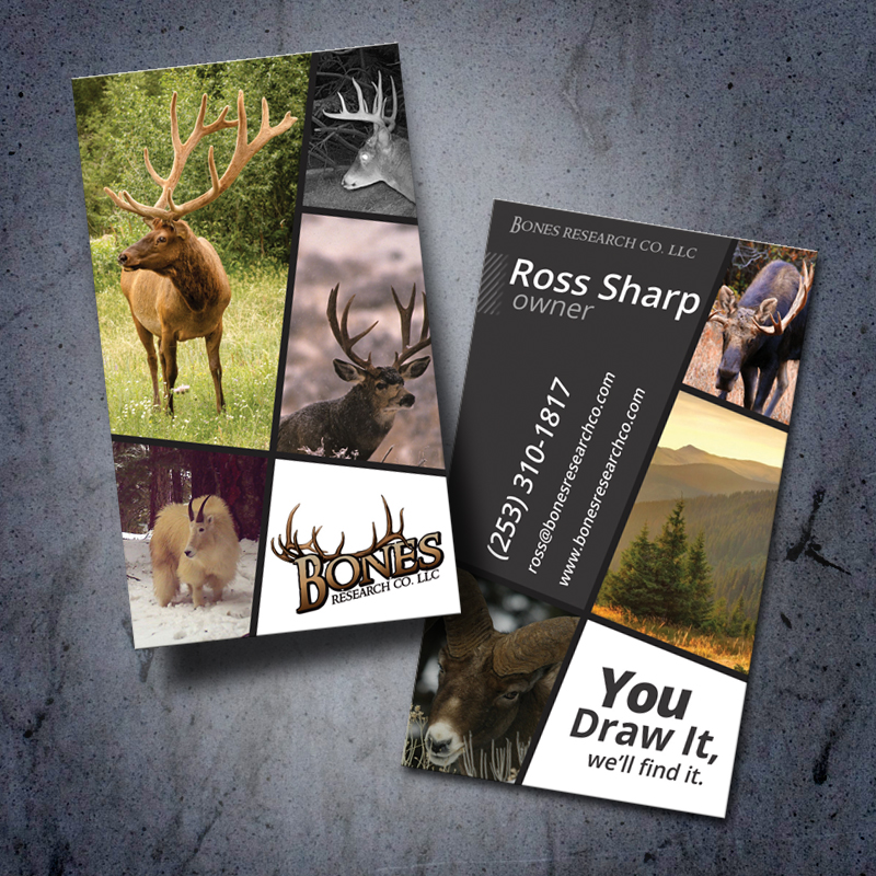 Bones Research Co Hunting Outdoor Business Card Design