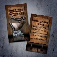 charlies-taxidermy-business-card-display