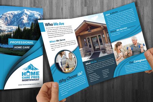 Home Care Pros NW Health Medical Brochure Design