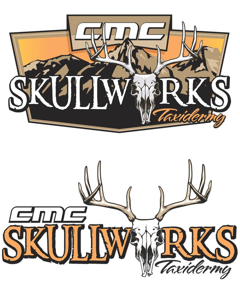 CMC Skullworks Custom Hunting Logo Design