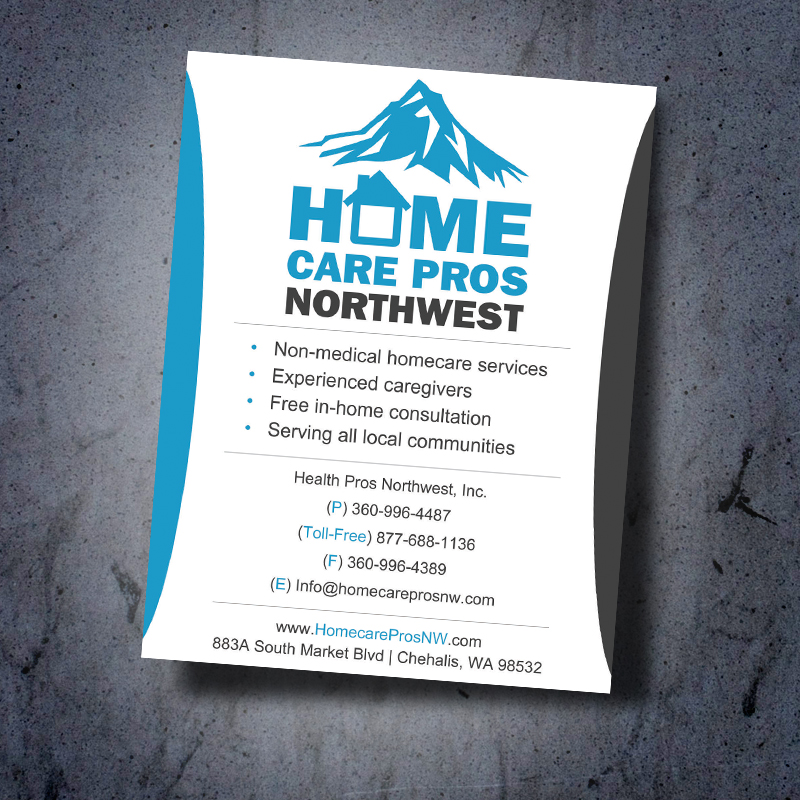 HomeCare Pros NW Medical Business Card Design | Outdoor Advertising ...