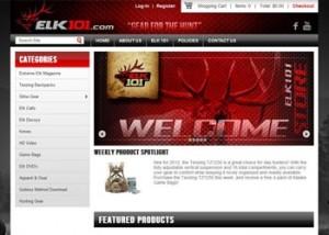 Elk101 eCommerce Hunting Website Design