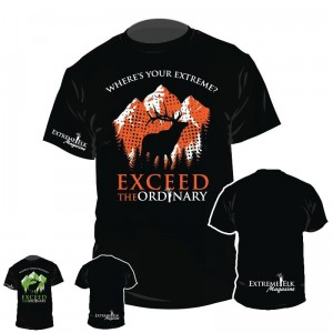 Extreme Elk Exceed The Ordinary Hunting T-Shirt Design