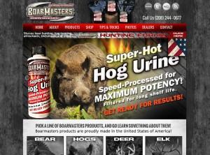 Boarmasters Attractants Hunting Website Design