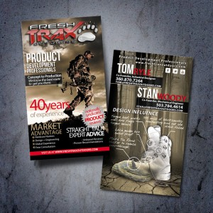 Fresh TRAX Outdoors Hunting Magazine Business Card Design