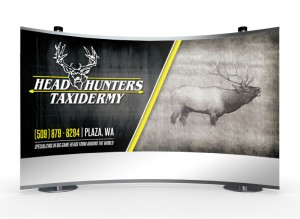 Head Hunters Taxidermy Trade Show Hunting Banner Design Display