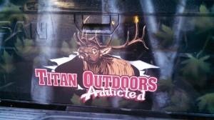 Titan Outdoors Addicted Outdoor Elk Logo Design