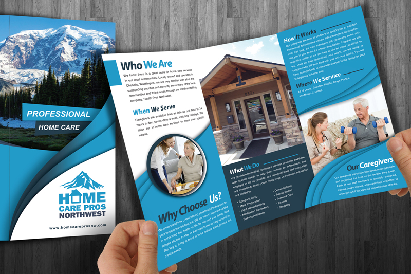 Home Care Pros NW Medical Brochure Design | Outdoor Advertising and Home Flyer Design on interior design flyer, logo design flyer, web design flyer, fiesta flyer, architecture flyer, landscaping flyer, photography flyer, graphic design flyer,