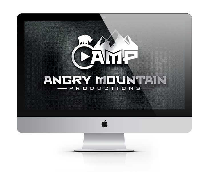 Angry-Mountain-Productions-Goat-Hunting-Logo-Design-Stylized