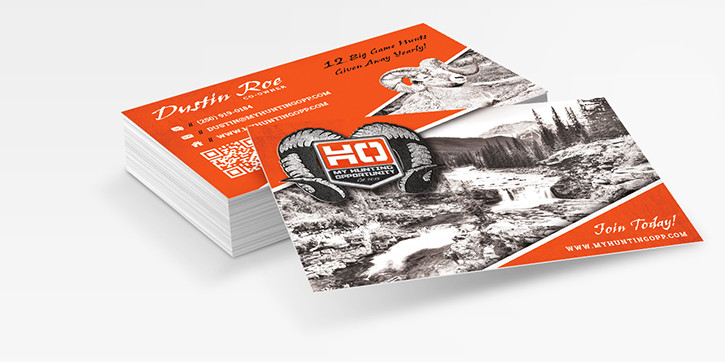 Business cards outdoor advertising and design agency custom my hunting opp outfitter business card design colourmoves